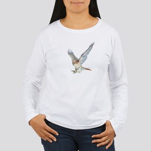 striking Red-tail Hawk Long Sleeve T-Shirt