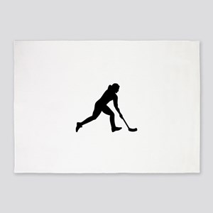 Floorball woman 5'x7'Area Rug