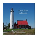 Tawas Point Lighthouse Tile Coaster