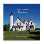 Point Iroquois Lighthouse Summer Tile Coaster