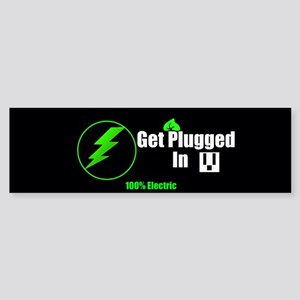 Get Plugged In (bumper) Bumper Sticker