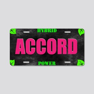 Accord Hybrid Power Aluminum License Plate