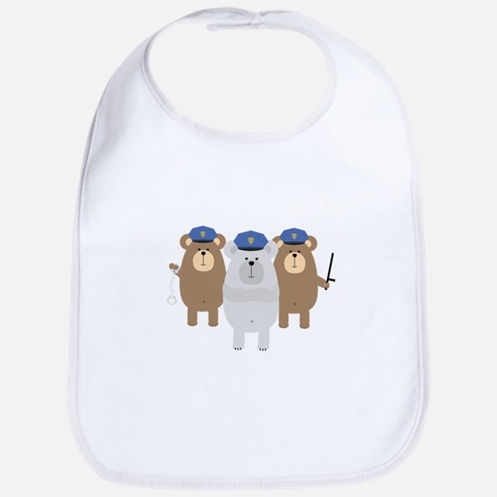 Bears Police Officer Squad Baby Bib