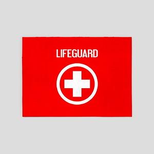 Lifeguard: Lifeguard (White) 5'x7'Area Rug