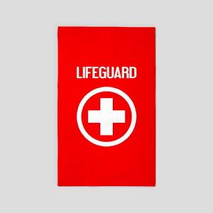 Lifeguard: Lifeguard (White) Area Rug
