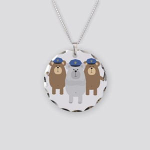Bears Police Officer Squad Necklace Circle Charm