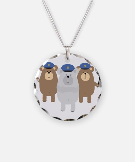 Bears Police Officer Squad Necklace
