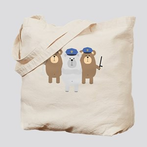 Bears Police Officer Squad Tote Bag