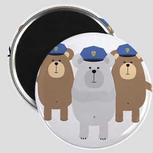 Bears Police Officer Squad Magnets