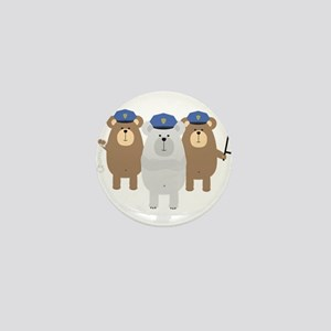 Bears Police Officer Squad Mini Button