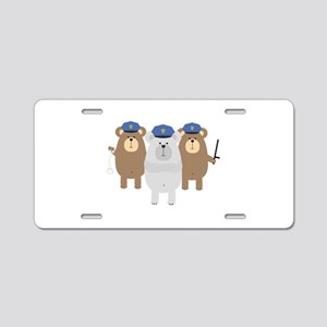 Bears Police Officer Squad Aluminum License Plate