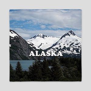 Alaska: Portage Lake and mountains Queen Duvet