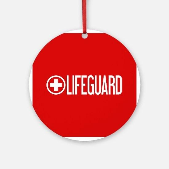Lifeguard: Lifeguard (White) Round Ornament