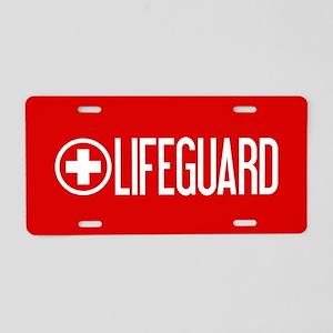 Lifeguard: Lifeguard (White) Aluminum License Plat