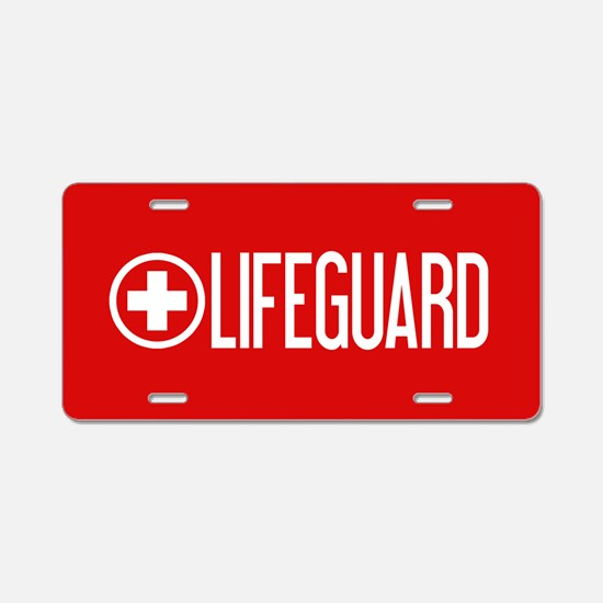 Lifeguard: Lifeguard (White) Aluminum License Plat