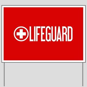 Lifeguard: Lifeguard (White) Yard Sign