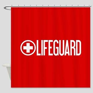 Lifeguard: Lifeguard (White) Shower Curtain