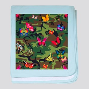 butterfly camouflage baby blanket