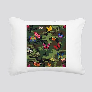 butterfly camouflage Rectangular Canvas Pillow
