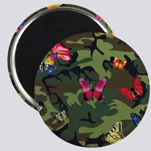 butterfly camouflage Magnets