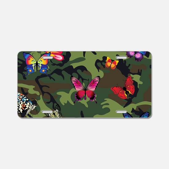 butterfly camouflage Aluminum License Plate