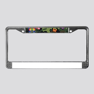 butterfly camouflage License Plate Frame