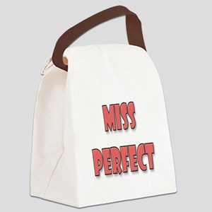 Miss Perfect Canvas Lunch Bag