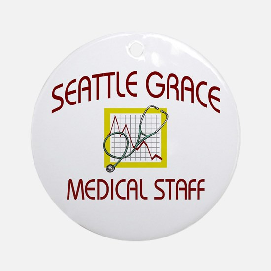 Seattle Grace Staff Ornament (Round)