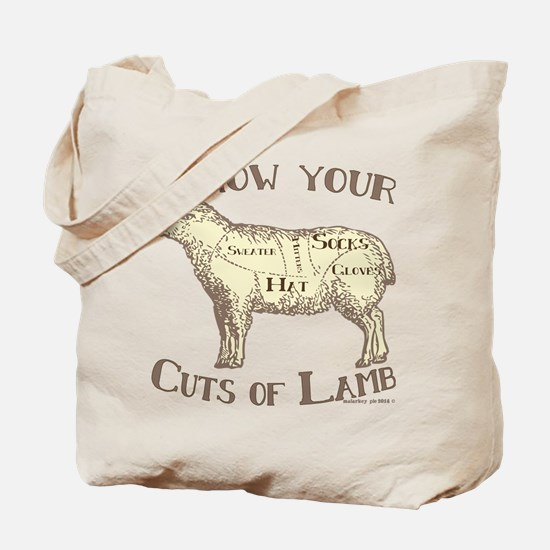 Funny Craft Know your cuts of lamb Tote Bag