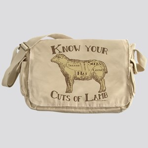 Funny Craft Know your cuts of lamb Messenger Bag