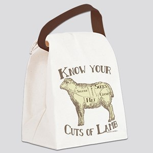 Funny Craft Know your cuts of lam Canvas Lunch Bag