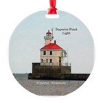 Superior Point Light Round Ornament