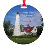 North Point Lighthouse Round Ornament