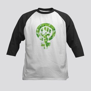 Feminist Symbol Green Leaves Baseball Jersey