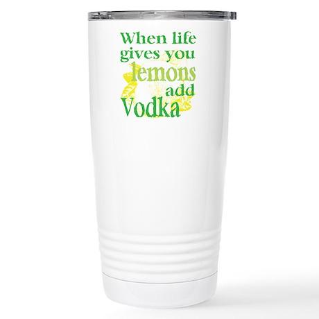 Funny Lemon Vodka Stainless Steel Travel Mug