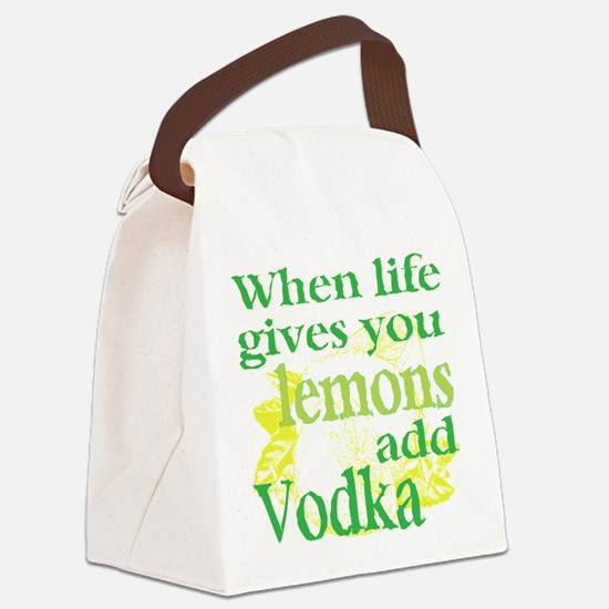 Funny Lemon Vodka Canvas Lunch Bag