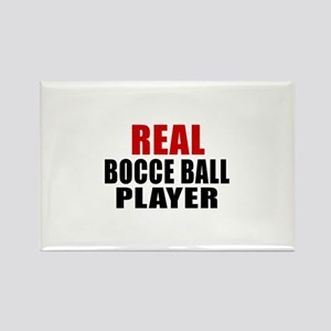 Real Bocce Ball Rectangle Magnet