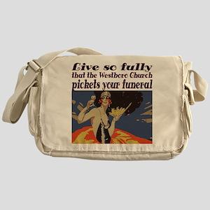 Live so fully Messenger Bag