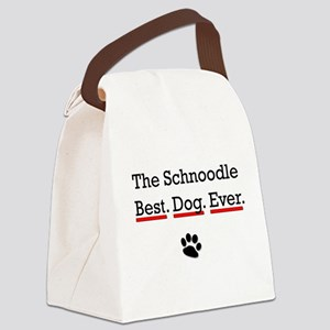 The Schnoodle Best Dog Ever Canvas Lunch Bag