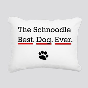 The Schnoodle Best Dog Ever Rectangular Canvas Pil