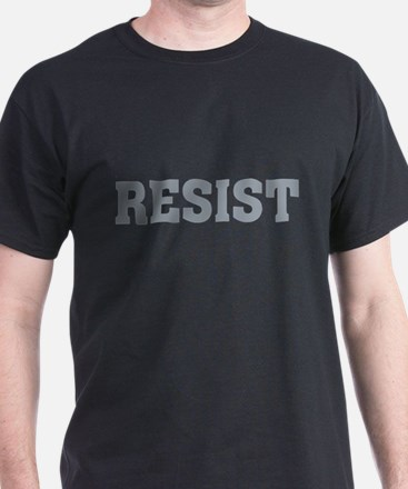 Resist Typography in Grey T-Shirt