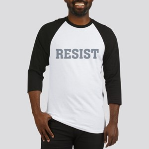 Resist Typography in Grey Baseball Jersey