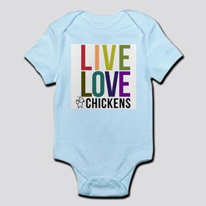 bold: live love chickens Body Suit