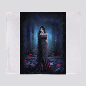 Lady of the Dark Throw Blanket