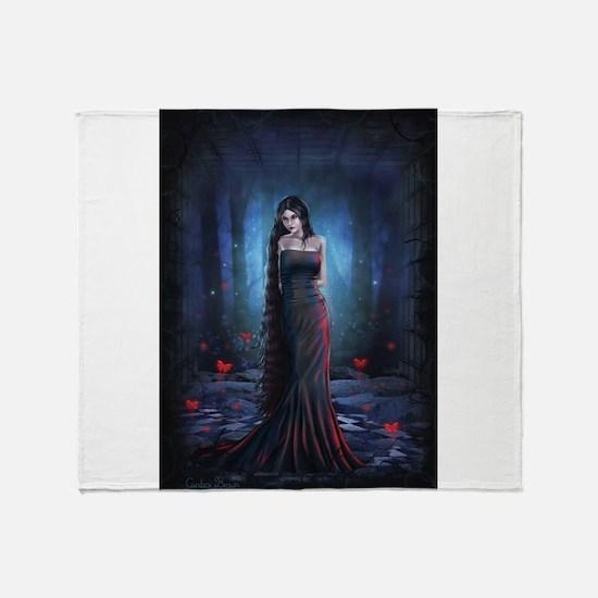 Lady of the Dark Throw Blanket