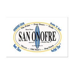 San Onofre Surf Spots Posters