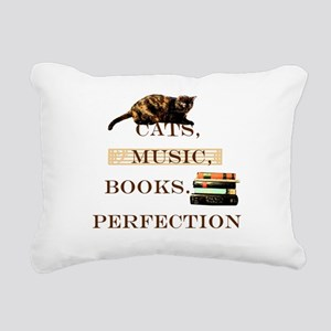 Cats, books and music Rectangular Canvas Pillow