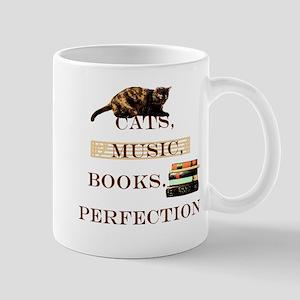 Cats, books and music Mugs