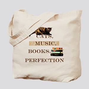 Cats, books and music Tote Bag