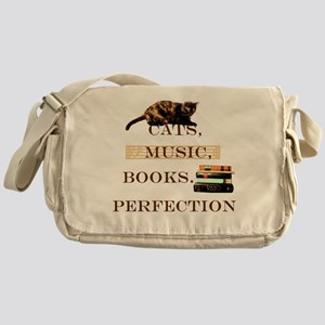 Cats, books and music Messenger Bag